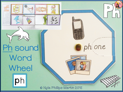 Phonics PH Word Wheel and Foldable Worksheet