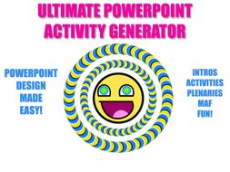 Activity Generator: Starters, Main Tasks, Plenaries (Design Beautiful PPTs in no time!)