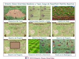 Rodents and Moles Spanish PowerPoint Game Template