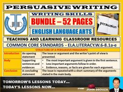 PERSUASIVE WRITING - CLASSROOM RESOURCES - BUNDLE