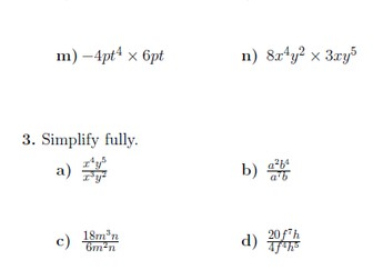 Index notation-multiplication and division laws worksheet (with solutions)