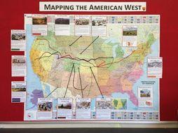 GCSE American West Map Display
