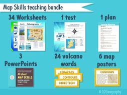 Map skills teaching resource bundle