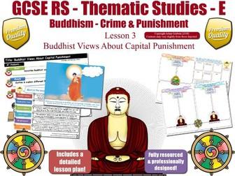 Capital Punishment  - Buddhist Views (GCSE RS - Buddhism - Crime & Punishment) [Death Penalty]  L3/7