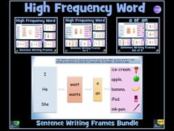 Sentence Writing: High Frequency Word Frames