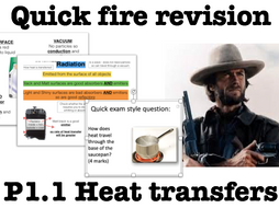 Heat energy transfers (GCSE Physics): Quick fire revision and exam questions