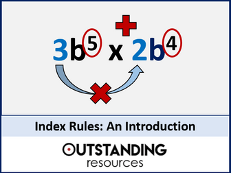 Index Rules 1 - An Introduction to Indices and Basic Index Laws (+ activity + resources)