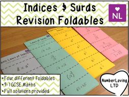 Indices & Surds Revision Foldable