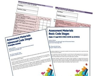 Phonics for SEN: Reading and Spelling Testing & Assessment Materials and Progress Tracker