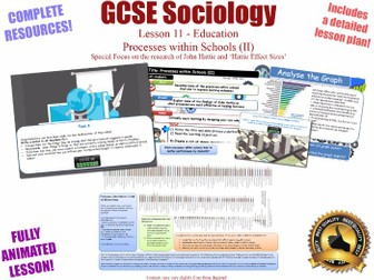 Processes Within Schools (II)- Sociology of Education L11/20[ WJEC EDUQAS GCSE Sociology ] Streaming