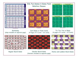 Relative Clauses 6 Board Game Bundle