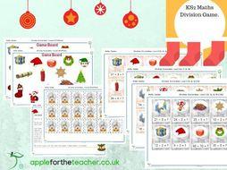 Christmas Division Game Maths KS2