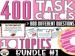 Conversation Starter Task Cards   BUNDLE#1   For Middle & High School
