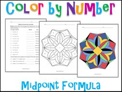 Midpoint Formula Color By Number By Charlotte James615 Teaching