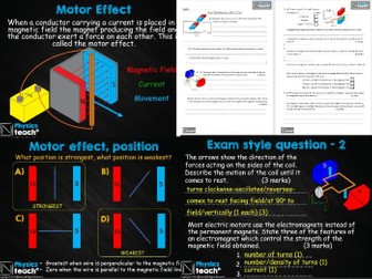 GCSE 9-1 - AQA Physics 4.7 - The Motor Effect