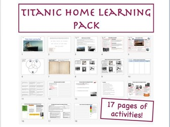 Titanic Home Learning Pack