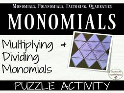 Multiplying and Dividing Monomials: Puzzle Activity