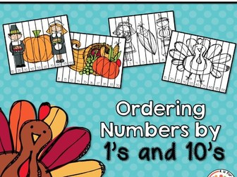 Thanksgiving Puzzles:  Ordering Numbers