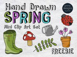 Spring Clip Art FREEBIE - Print Designs by Kris