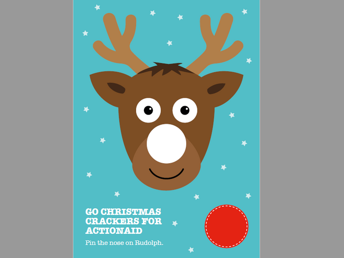 photo about Pin the Nose on the Reindeer Printable called Pin the nose upon Rudolph and Xmas occasion masks through