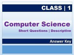 Class 1: Computer Science Descriptive AK