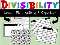 Divisibility Lesson Plan with Materials and Student Foldable