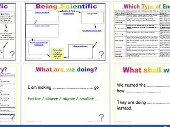 Being Scientific: Working Scientifically in Enquiry and Investigation - Planning editable