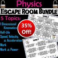 High School Physics Escape Room Bundle