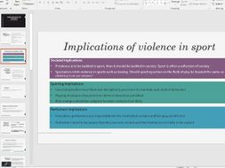Violence in Sport A level PE OCR 2016 Specification Updated!