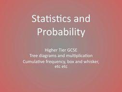 GCSE Mathematics Statistics and Probability Higher Tier Revision workbooks