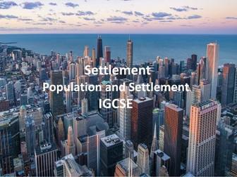 IGCSE Population and Settlement - Settlement
