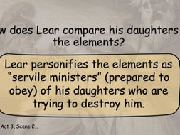 King Lear Act 3 Scene 3 - Summary and  Analysis Powerpoint