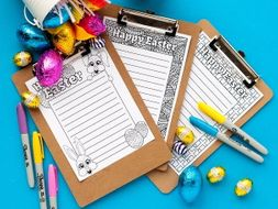 Easter Stationery | Set of 3 Easter letterheads to color in and write a letter or story for Easter