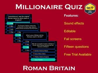 Millionaire Quiz! (Roman Britain Edition)