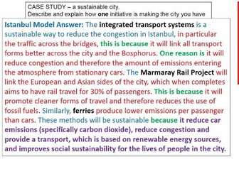 2017-2018 Year 11 OCR B Revision 3) Urban Futures: 6 mark answers