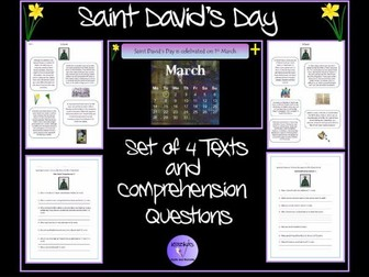 Saint David's Day - Texts and Comprehension Questions