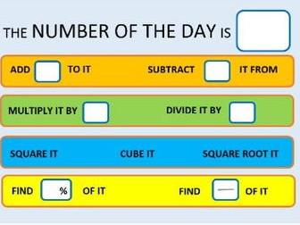 Number, Expression, Fraction of the Day