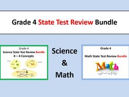Grade 4 State Test Review Bundle Math Science State Tests By