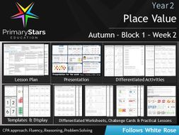 YEAR 2 - Place value - White Rose - WEEK 2 - Block 1 - Autumn - Differentiated Planning & Resources