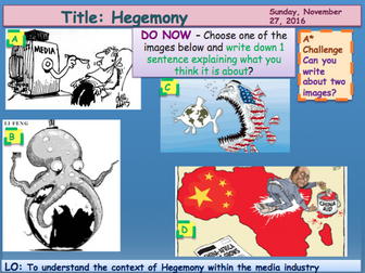 Media Institutions 3 Hegemony GCSE Media Studies UNIT 1 Media Exams TV Game Shows