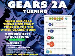 MATHS / PHYSICS - GEARS 2A - TURNING  (simple DIVISION/MULTIPLCATION )