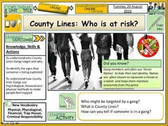 County Lines - Gangs - Who is at risk?