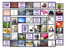Phonics Consonant Blends tr-sq-sc-sk-sp Photo Board Game