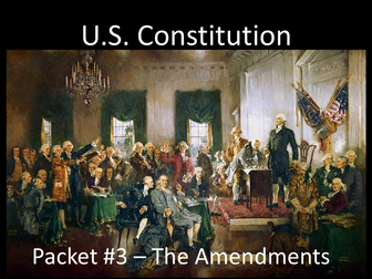 U.S. Constitution Activity Packet 3