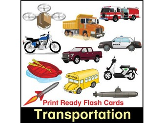 ESL Flash Cards-Transportation