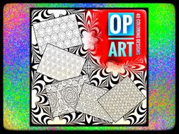 ART. Op Art Colouring activities