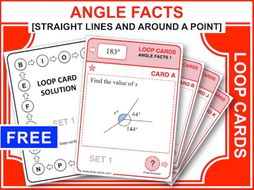 Angle Facts 1 (Loop Cards)