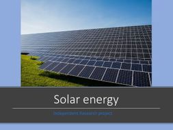 Independent Research project template -solar - differentiation tool - revised