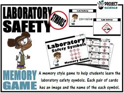 Laboratory Safety Symbols Memory Game