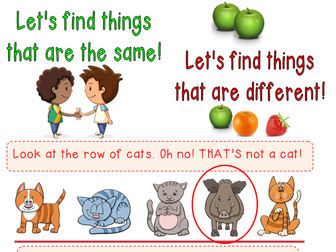 Same and Different - Four page worksheet